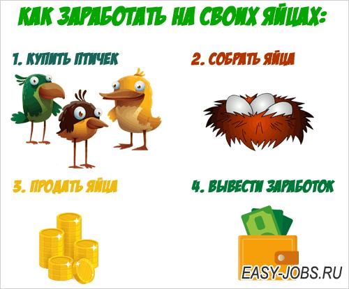 Инструкция по заработку на яйцах