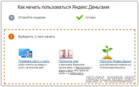 Открыть кошелек Яндекс ДеньгиГотово